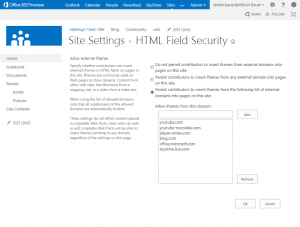 html field security settings