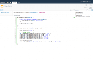 SyntaxhHghlighter integrated in SharePoint