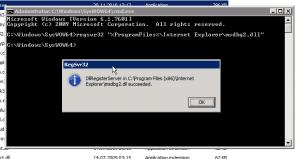 Re-register msdbg2.dll