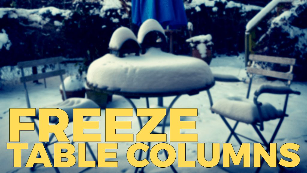 Freeze Table Columns