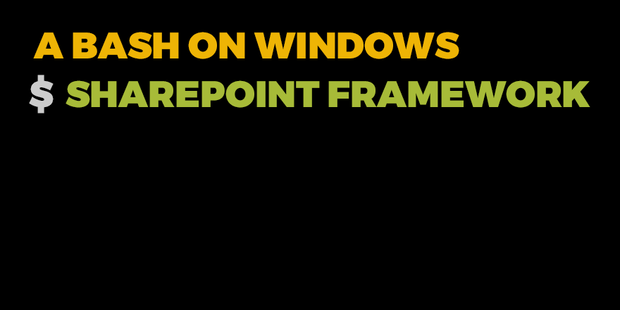 a-bash-on-windows
