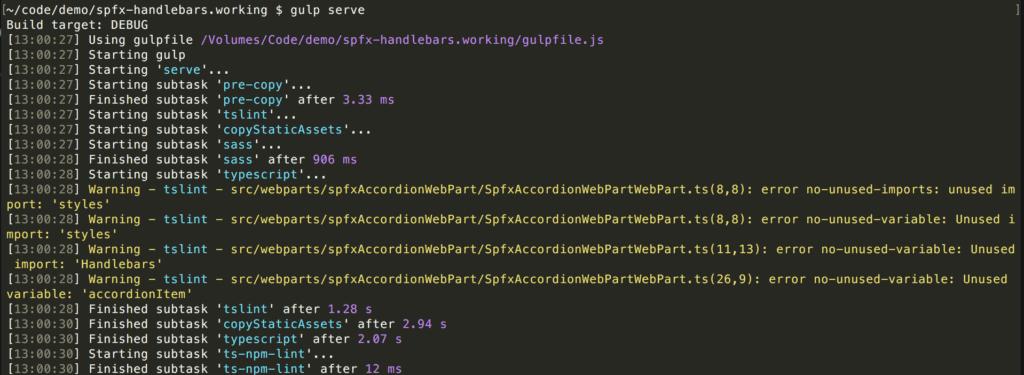 gulp server - default start