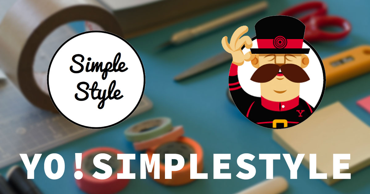 Yo! SimpleStyle - Yeoman generator for you next Styl Guide