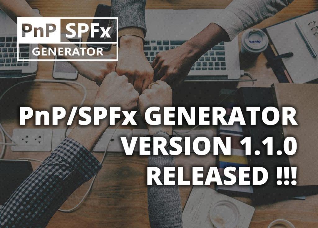 pnp generator 1.1.0 released